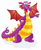 dragon cartoon character, isolated