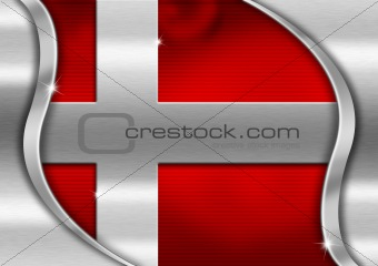 Denmark Metal Flag