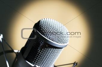 Grey microphone.