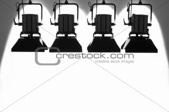 Four  searchlights.