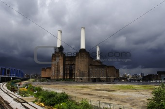 Battersea power plant in London