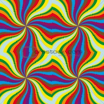 Color movement effect.