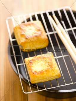 fried tofu cubes