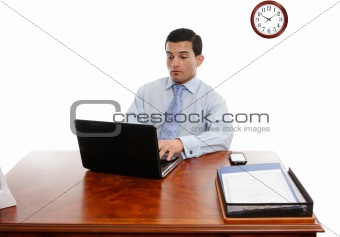 Executive at desk working
