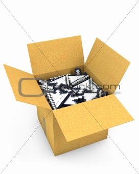 Box full of arrow cursors