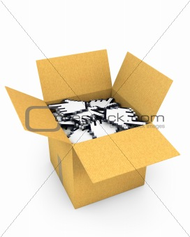 Box full of hand cursors