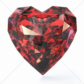 Heart shaped ruby