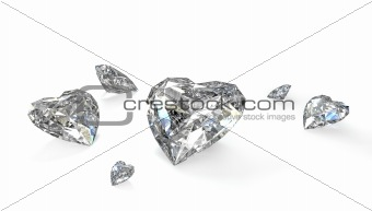 Few heart shaped diamonds