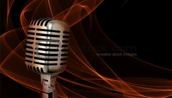 Classic microphone closeup