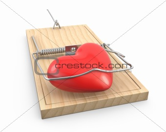 Heart caught in a mouse trap