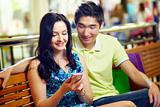 Couple with smart-phone