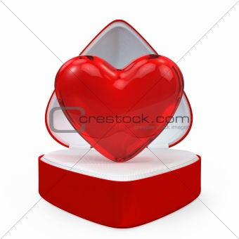 Heart in a heart shaped gift box