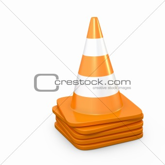 Stack of road cones