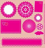 Image of Vector set lace frames