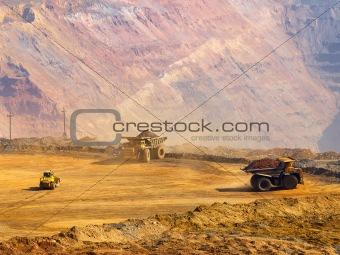 Work in open-cast mine
