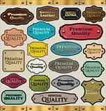 Leather Premium Quality labels