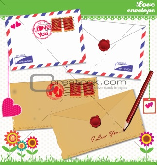 Love envelope - Valentine Scrapbook Elements