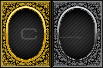 Vintage floral frames. Decorative pattern. Vector illustration.