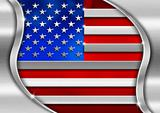 USA Metal Flag