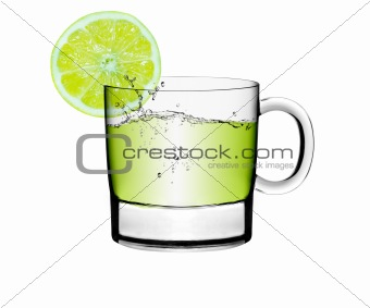 Glass of a lemon