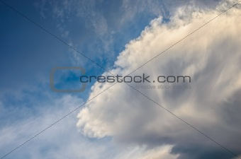 clouds and sky before storm
