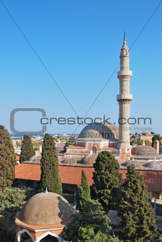 Rhodes Landmark Suleiman Mosque. Greece. Old town