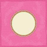 Pink Polka Dot Invitation Card with Place for Text. Vector