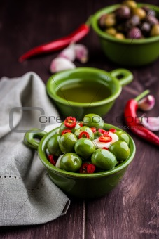 Marinated Sant Agostino Olives