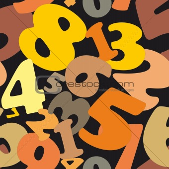 Seamless vector  texture made of numbers