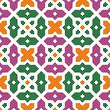 Seamless traditional floral vector islamic ornament - girih, tex