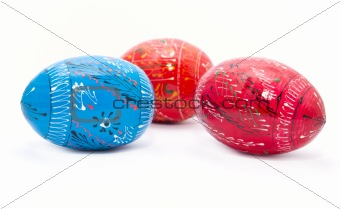 Beautiful decorated Easter eggs