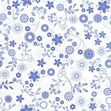 Seamless flower background pattern.