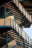 Iron staircase construction