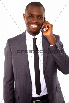 businessman with mobile