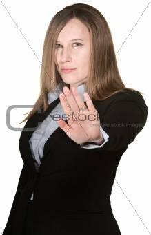 Woman With Hand Out