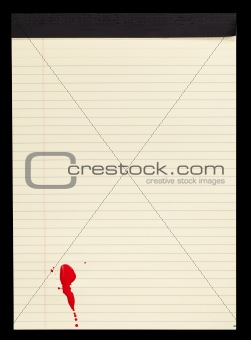 Blood Stained Notepad IV