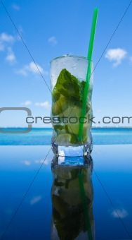 Mojito by the ocean