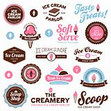 Ice cream shop labels