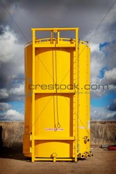 Sloped Bottom Oil Storage Tank