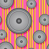 Speakers seamless background. 