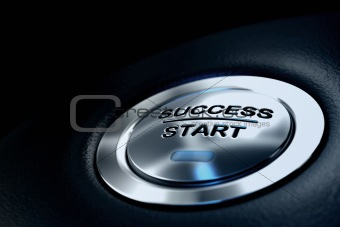 success start button, business concept