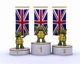 tortoises on championship a podium