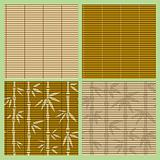 Set of seamless bamboo patterns