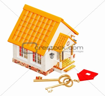 House and two gold keys