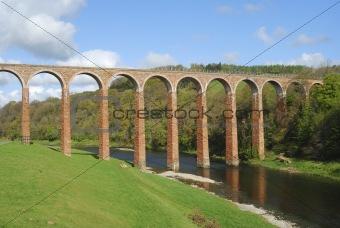bridge over river Tweed near Melrose