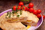Photo: Stuffed Pie And Cherry Tomatoes