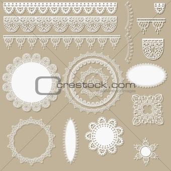 vector lacy scrapbook design elements
