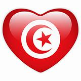 Turkey Flag Heart Glossy Button