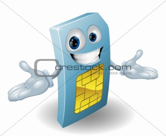 Mobile phone sim card mascot