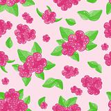 two-color floral seamless pattern with flowers leaves on green background
